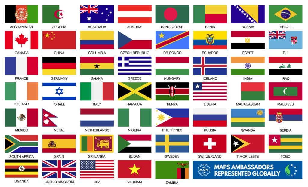Parvati.world, Parvati Foundation, MAPS Ambassadors represented globally